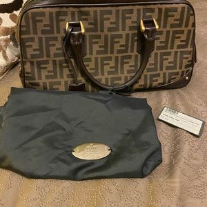Fendi Boston Zucca Bag